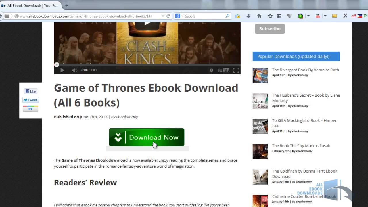 Game Of Thrones Book 1 Pdf Free Download - clevermyweb